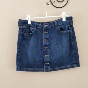 01ec45c56967c Old Navy Button Front Jean Skirt